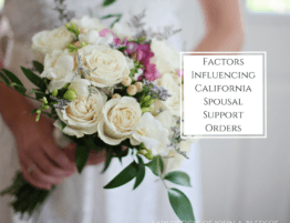 Factors Influencing Alimony Spousal Support Orders in the State of California